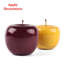 Fashion Yellow Apple Decorations Round Shape Lucky Brand Gift Lovers' Day Women Present New Design Wedding Decoration G024(China)