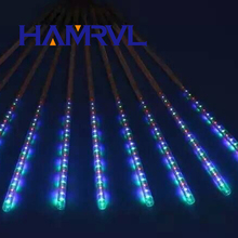 LED Christmas Lights Multi-color 20/30/50 CM Meteor Shower Rain Tubes AC100-240V Wedding Party Garden Xmas String Light Outdoor(China)