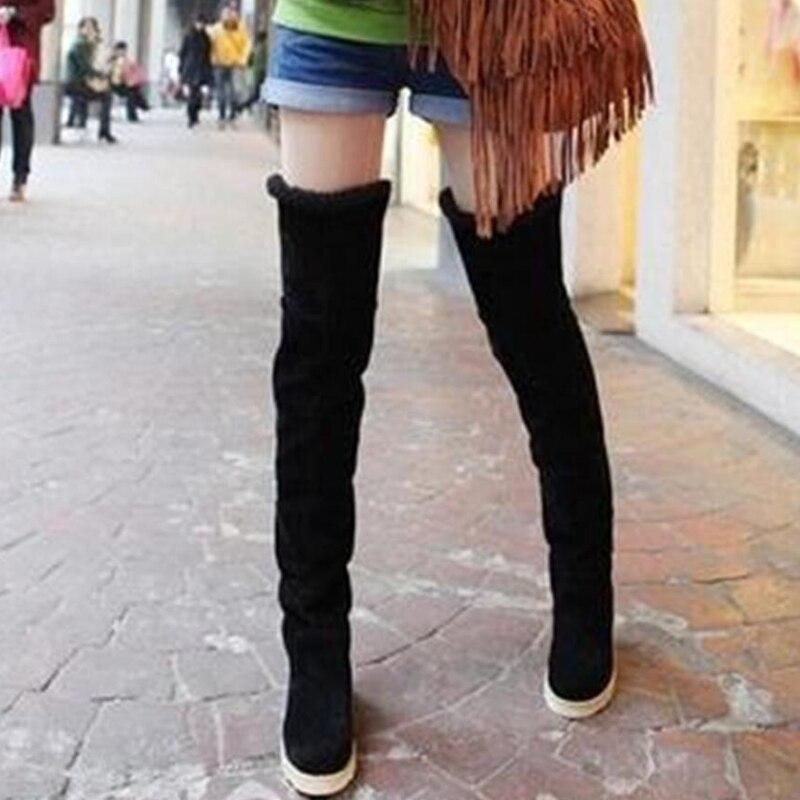 2017 HOT Sale Elegant Women Ladies Luxury Fashion Winter Over Knee Boots Slip On Long bottine Jackboots Flats Booties Shoes G229<br><br>Aliexpress