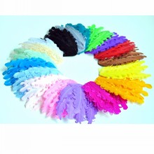 120pcs/lot 18colors Newborn Nagorie Curled Goose Feathers For Baby Headbands Unfinished Feather Pads For Girls Hair Accessories(China)