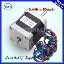 CNC Double shaft Stepper motor 42x48 NEMA17 stepper motor 1.6A 0.44N.m Nema 17 stepping motor 63Oz-in for CNC machine 3D printer