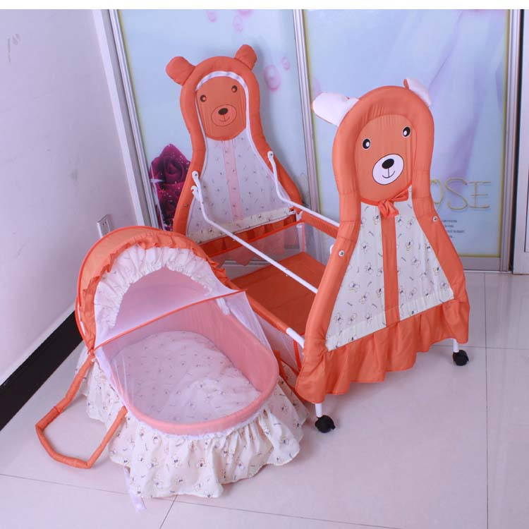 5 colors simple classic design good quality Baby cradle baby bed bb portable crib cartoon lovely animal newborn swing beds<br><br>Aliexpress