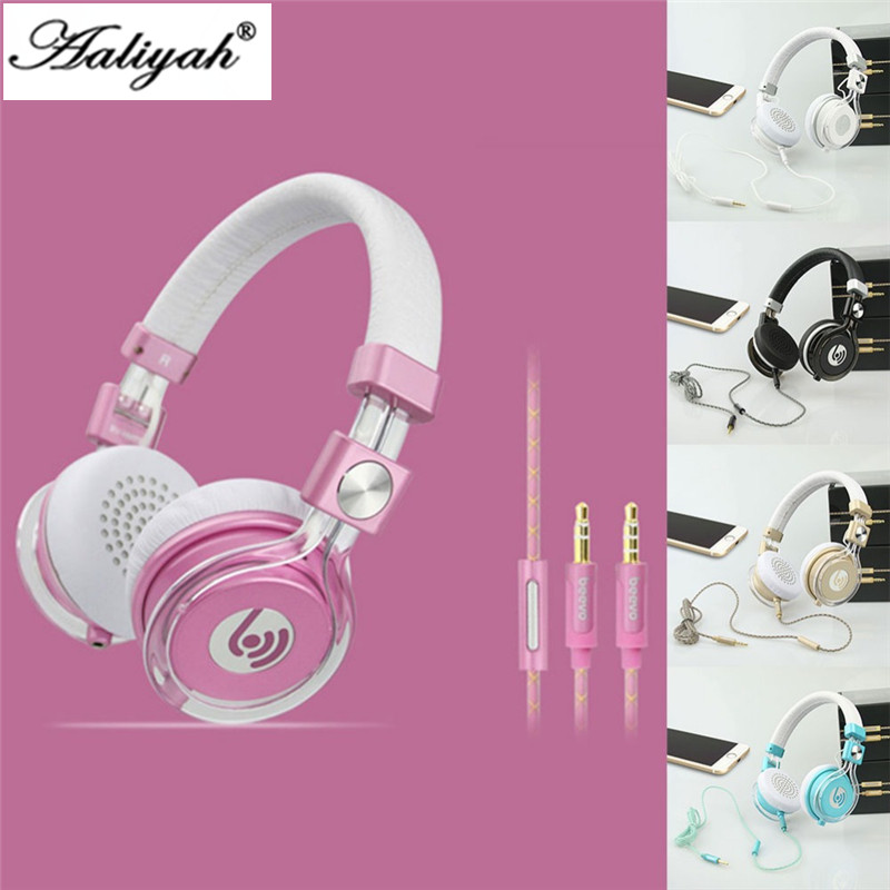 HM770 Headphones Foldable Headphones with Microphone and Volume Control Stereo Headset for Kids/Adults Compatible for SamsungHTC<br><br>Aliexpress