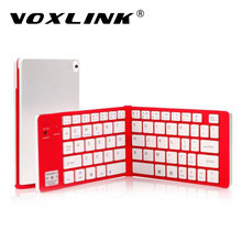 VOXLINK Wireless Intelligent Bluetooth Folding Keyboard Ultra Thin Travel Keypad For iPhone iPad Samsung Huawei Xiaomi PC Tablet