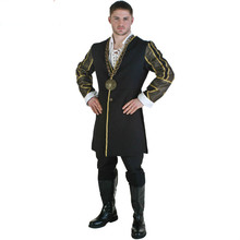 Adult Halloween Carnival Party Cosplay Costumes King Henry VIII of England 's Clothing for Men