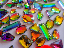Dazzling  multi-colour crystal mixed Sew on  rhinestones accessory  beads gemstone strass    200pcs/bag