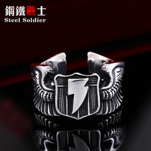 Steel soldier Man's Gothic biker Ring Stainless Steel Nice Look Personality Man's Jewelry(China)