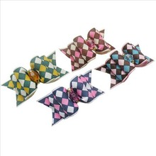 Wholesale Pet Products Hand Made Dog Grooming Pet Hair Bows Doggie Boutique Party Show British Style Mixture 50PCS/LOT