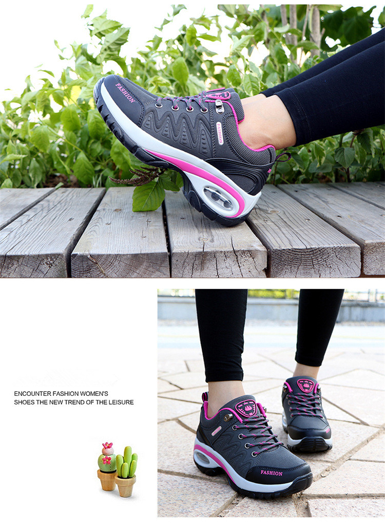 17 High quality Sneakers women shoes Running shoes woman leather Sport Shoes Air damping Outdoor arena Athletic zapatos mujer 13