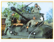 Resin Kits 1/35 Scale The M4 M26 tank soldiers not include the tank Resin Model DIY TOYS(China)