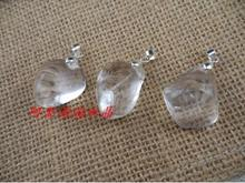 Free shipping Natural Clear White Crystal stone pendant DIY Quartz Crystal Pendant Healing Reiki AAA Wholesales free shipping