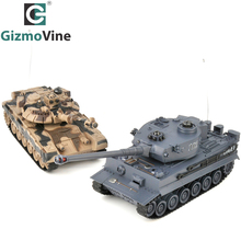 RC Tank 2 pcs/set 27Mhz 40Mhz 9CH RTR GE Tiger 103 VS T90 Remote Control Fighting Battle TankRC Tank Toy With Infrared RC Toys(China)