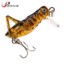 1pcs  Tiny Locust Cricket Lure 4cm 3g Artificial Soft Bait Lures Insects Cricket Pesca Carp Fishing Lures Fly Fishing