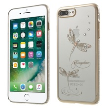 For iPhone7Plus KINGXBAR Swarovski Crystals Plating PC Back Case for iPhone 7 Plus 5.5-inches(China)