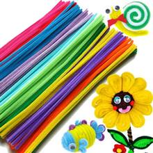 100PCS Chenille Stems Colorful Sticks Kids Toy Kindergarten DIY Handcraft Material Creative Kids Educational Toys 88 YH-