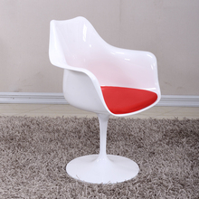 Classic Tulip Arm Chair With Aluminum Base Swivel Tulip Loft Chair Modern Loft Plastic Swivel Hotel Tulip Chair