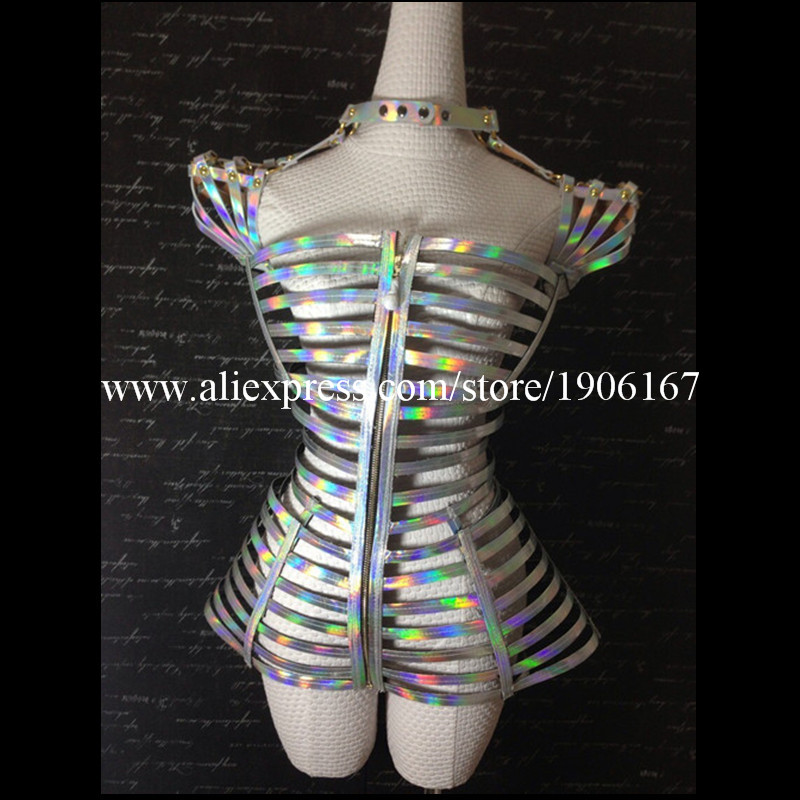 Laser Mirror Costume Future Technology Space Costume Female singer DJ Costume Stage Performance Costume2