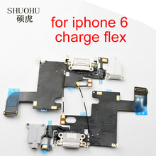 SHUOHU brand Black / White For iPhone 6 Charger Charging port Dock USB Connector Data Flex Cable Headphone Jack Flex Ribbon(China)