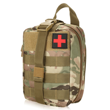 Lixada Outdoor MOLLE Medical Pouch First Aid Kit Utility Bag Emergency Survival First Responder Medic Bag Treatment Pack(China)
