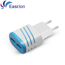 Eastion 2 USB Charger for Samsung Galaxy iPhone EU Plug Multiple Wall Chargers Smart Adapter Mobile phone Fast Charging Device