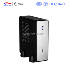 REALAN mini itx desktop htpc computer case E-C3 without power supply SGCC 0.8mm black silver(China)