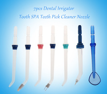 7pcs Dental Oral Care Irrigator Flosser Tooth SPA Cleaner Nozzle Oral Irrigator Accessories Teethpick Cleaner Nozzle