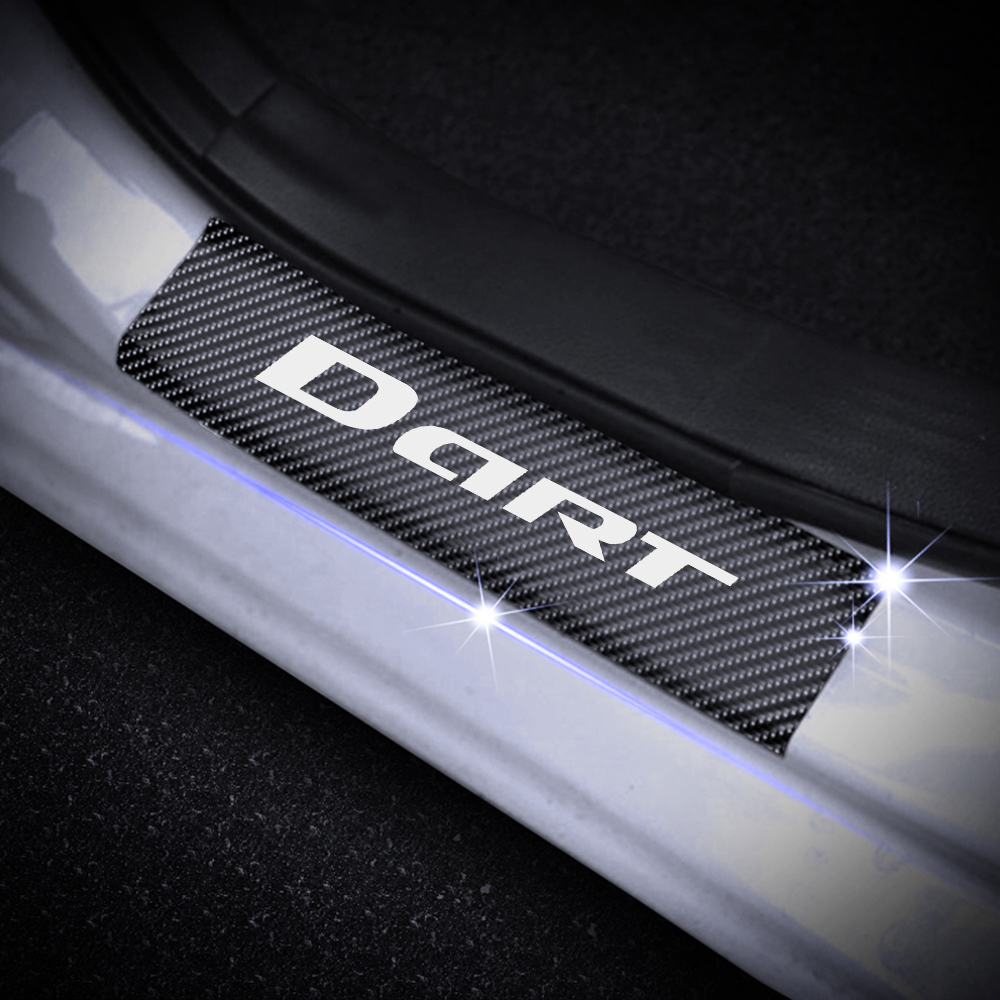 Door Sill Welcome Pedal Scuff Threshold Bar Protective Stickers Strips Plate Protector AEVEILS 4 Pcs Carbon Fiber Car Kick Plates Pedal For Citroen DS DS4 DS4S DS5 DS6 DS7 DS5LS DS3