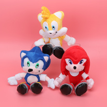 20cm Boom Plush Super Sonic Tails Knuckles Plush Toys Cartoon TV Sonic The Hedgehog Plush Doll(China)