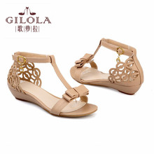 size 34-43 new sweety women's sandals wedge women sandals aprict pink beige ladies spring summer shoes woman best #Y3203716F
