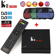 KII PRO DVB S2 T2 Android TV Box 2GB 16GB DVB-T2 DVB-S2 Android 5.1Amlogic S905 Dual WIFI K2 pro 4K Smart TV Box+Keyboard KIIPRO(China)