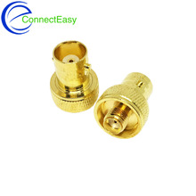 10Pcs Copper Gold Plated SMA Female to BNC Female Connector RF Coaxial Coax Adapter BNC to SMA F/F Plug