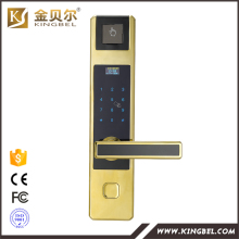 High security biometric fingerprint coded door lock for home use