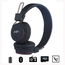 NIA Audifonos X2 Adjustable insomnia Wireless TF Card Bluetooth Oppo Earphone Headphone Handsfree FM Radio Headset For iPhone(China)