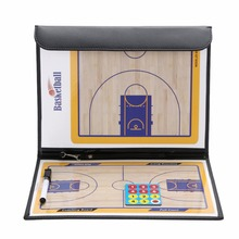 Basketball Training Tactical Board Professional Basketball Strategy Board Coaching Board Coaches Clipboard + Dry Eraser Marker