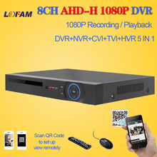 LOFAM HD CCTV DVR 8ch AHD 1080P surveillance DVR NVR 8 channel AHD-H 1080P HDMI security standalone 3G WIFI DVR video recorder