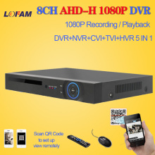 LOFAM HD CCTV DVR 8ch AHD 1080P surveillance DVR NVR 8 channel AHD-H 1080P HDMI security standalone 3G WIFI DVR video recorder(China)