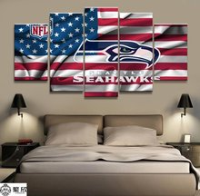 5 Panel NFL Seattle Seahawks Rugby Canvas Printed Painting For Living Picture Wall Art HD Print Decor Modern Artworks Poster