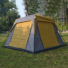 Alltel New arrival ultralarge iron poles 4-6 person use double layer waterproof windproof camping family party tent