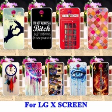 Silicon Cell Phone Cases For LG X SCREEN X View Covers X-screen K500DS Housing Bag DreamCatcher Telephone Booth Letters Shell