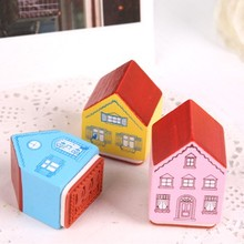 BF040 Wooden stamps Small house seal 3*2.5*4cm free shipping(China)
