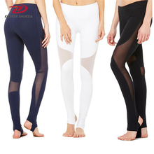 Lucylizz Professional Mesh Patchwork Sports Leggings Fitness Yoga Pants Running Tights Gym Sportswear Sports Trousers Leggins