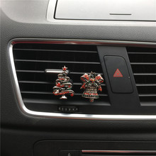Christmas car decoration perfume Alloy bells and Christmas tree shapes car air freshener Exquisite car styling Perfume