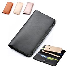 Microfiber Leather Sleeve Pouch Bag Phone Case Cover Wallet Flip For Vkworld T2 T3 T5 T5 SE T6 / G1 / G1 Giant 4G LTE(China)