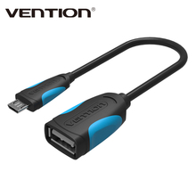 Vention Micro USB OTG Cable 25cm Adapter for Samsung Galaxy S6 S4 HTC LG Sony Xiaomi Meizu Android mobile phone Tablet MP3