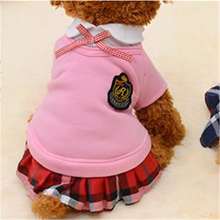 Pet Dog Clothes Puppy School Suit for Small Dog Shirt Vest Sweater Jersey Spring Funny Cat Costumes Roupas para Cachorro(China)
