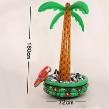 Inflatable Palm Tree With Parrot Cooler Ice Bucket Christmas Decoration Halloween Party Supply Coconut Tree Toys Hot Selling