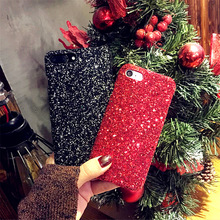 Luxury Glitter Bling Power Phone Case For iPhone 6 6s Plus 7 7 Plus 5 5s SE 3D Paillette Fashion Phone Case Hard PC Cover Bags