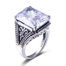 Szjinao Created Zircon White Ring Fashion Women Girls Men Rings Large jewelry Rings Russian cute lighter ring bijoux femme