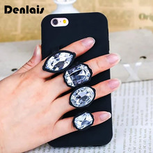 Buy Luxury Case iPhone 5s 6 Plus 6s Plus 3D Diamond Glitter Phone Case iPhone X 8 7 7Plus Soft Silicon Ring Holder Bag Cover for $4.69 in AliExpress store