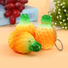 Baby Squishy Pineapple Release Stretch Toys Slow Rising Scented Fruit Phone Strap Decor Kid Gift Charm  Scented Toys